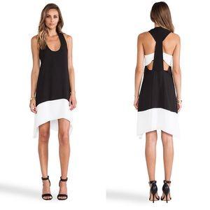 BCBGMaxazria Black/White Asymmetrical Dress